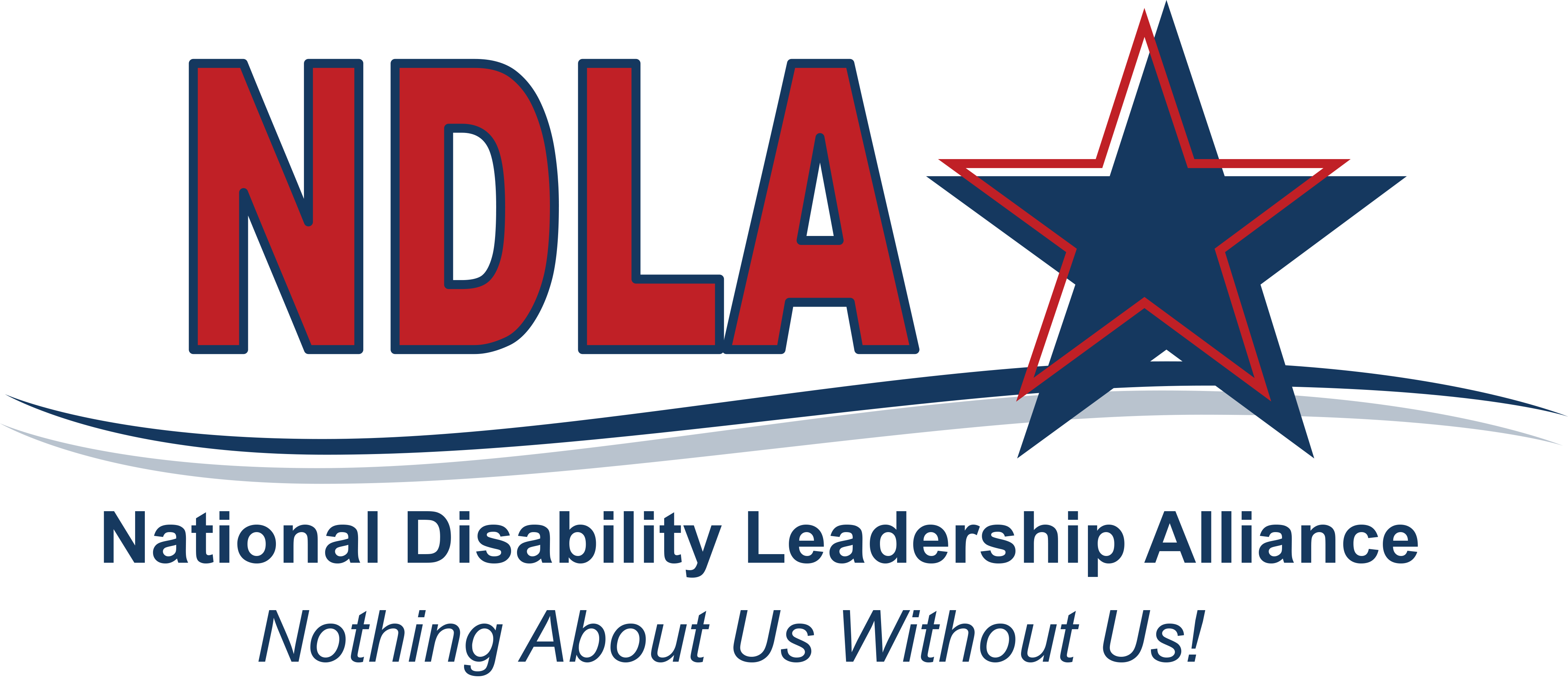 NDLA logo with red, white and blue colors